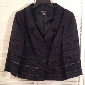 Etcetera 10 Black Embellished Linen Jacket/Blazer